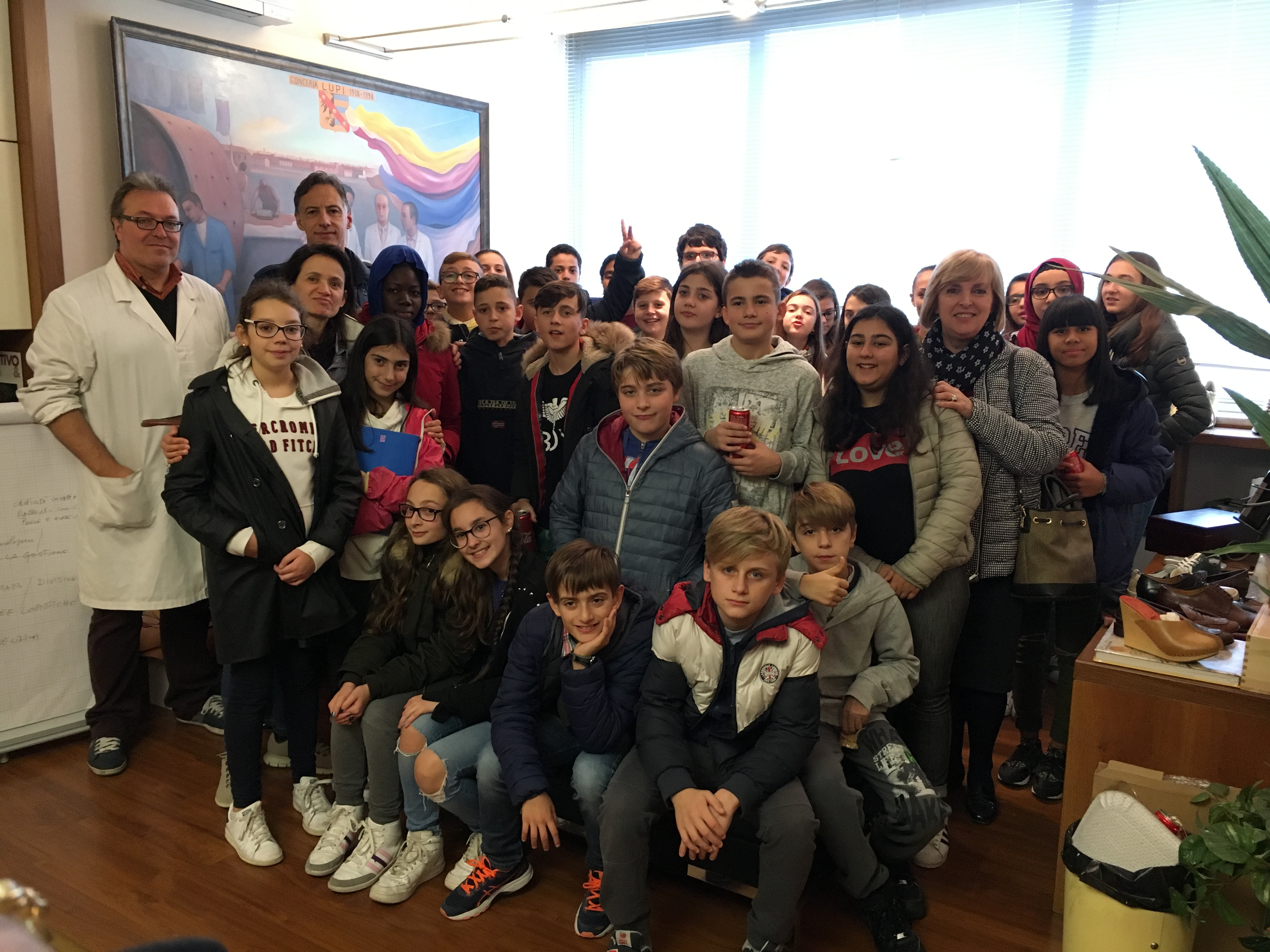 Students from Secondary School in Santa Croce visiting BCN 7/11/2017